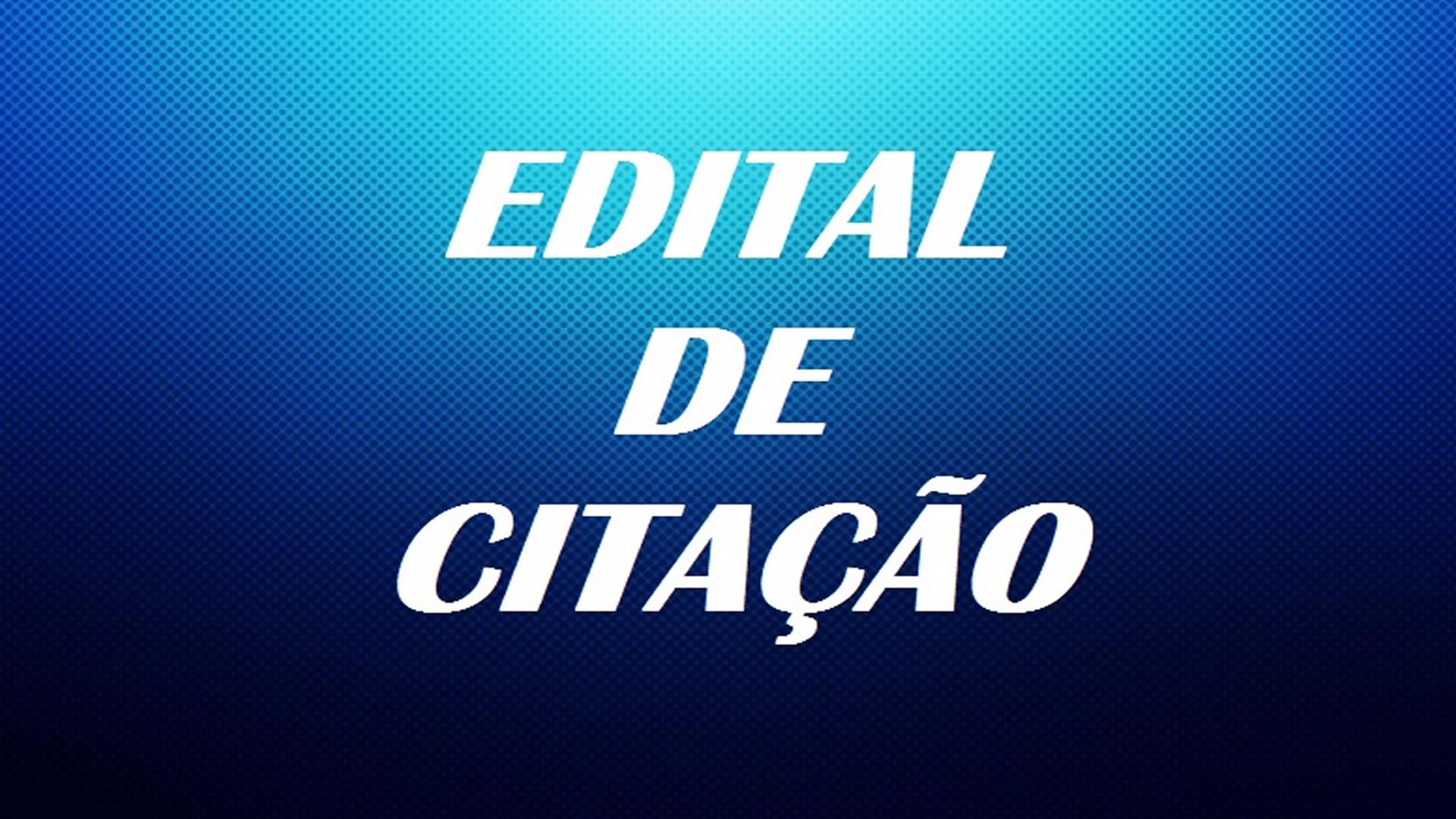 Edital de Citação