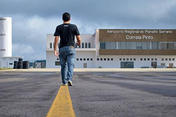 Previsão é de que Aeroporto de Correia Pinto fique pronto em junho