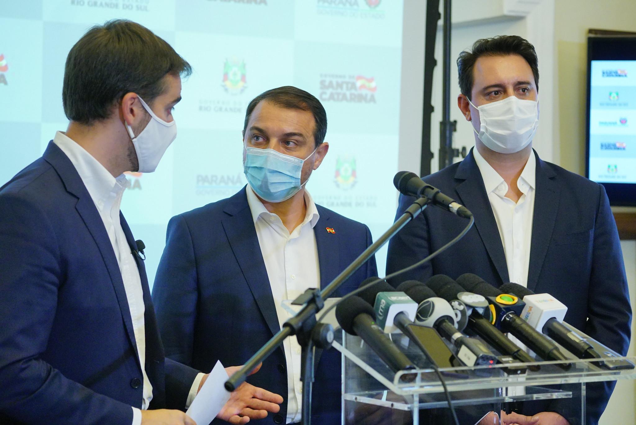 Governadores do Sul anunciam medidas de cooperação no enfrentamento da pandemia