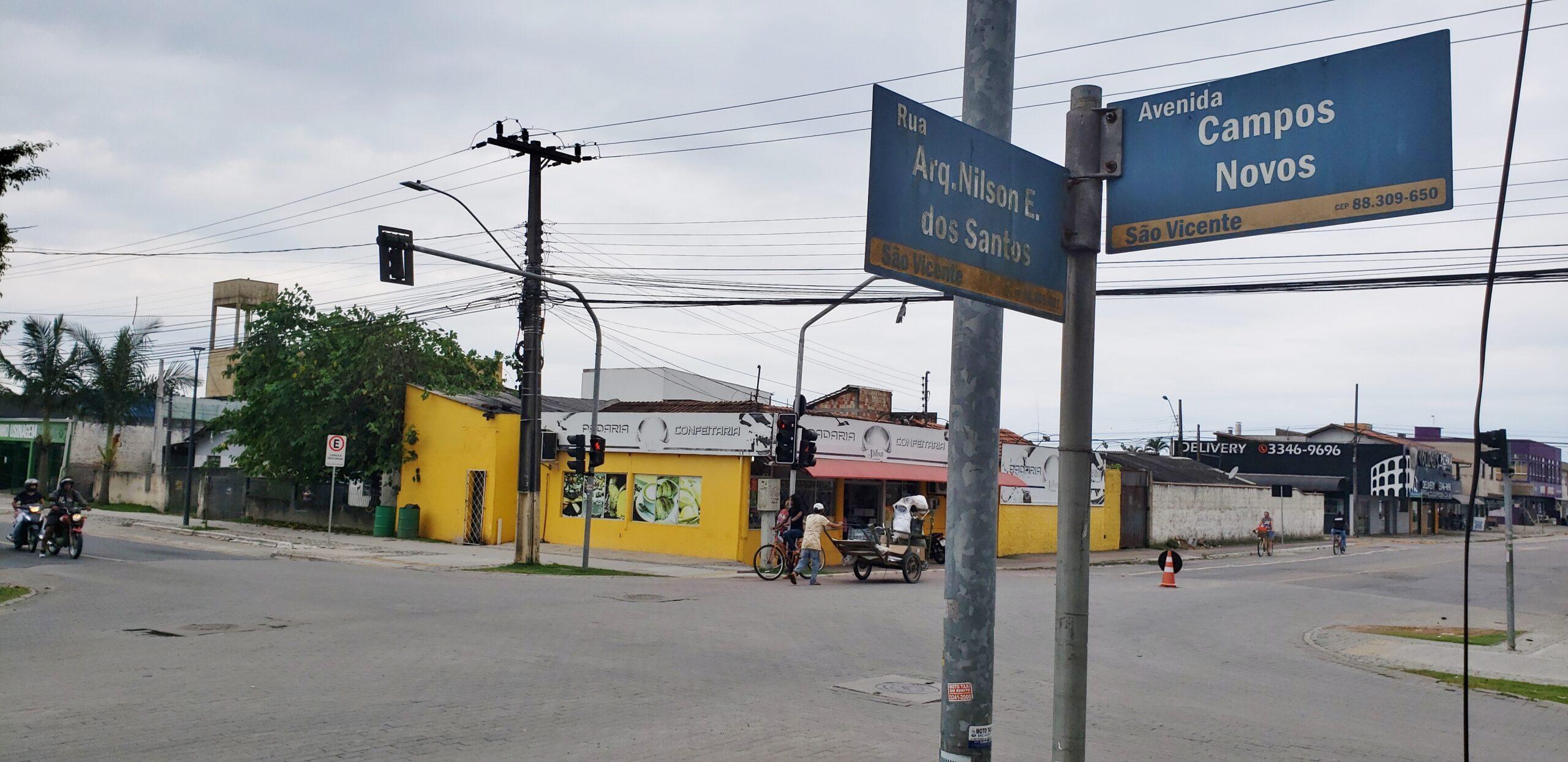 Trânsito: Cruzamento entre Campos Novos e Arquiteto Nilson Edson dos Santos será fechado