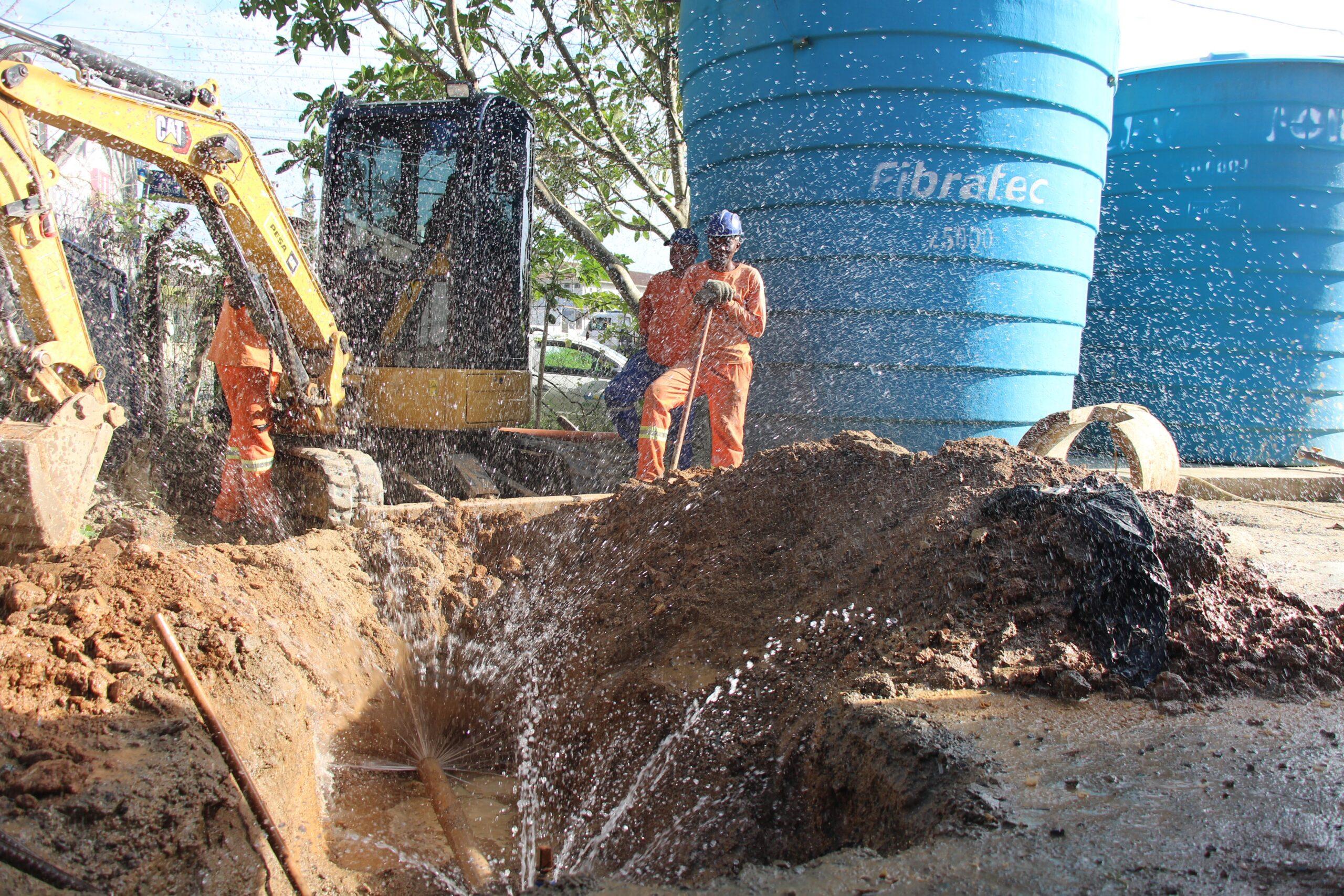 Rede de água nas áreas rurais de Itajaí: Semasa finaliza mais 6 km de redes de água no interior