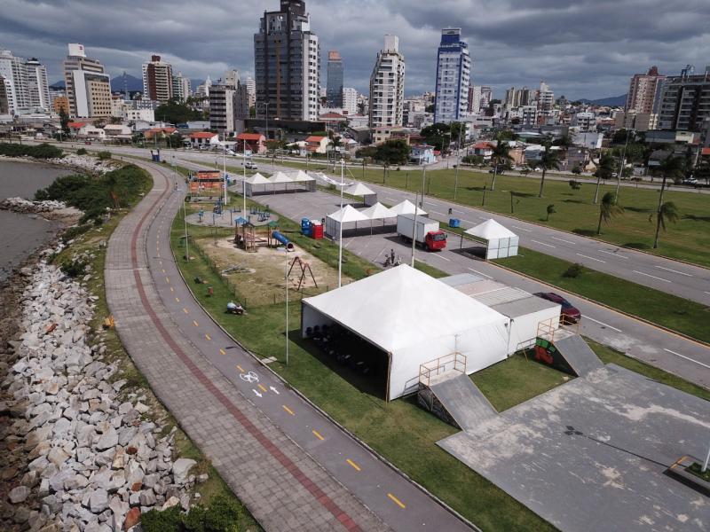 Florianópolis: Beira-mar Continental terá ponto de vacinação para pedestres