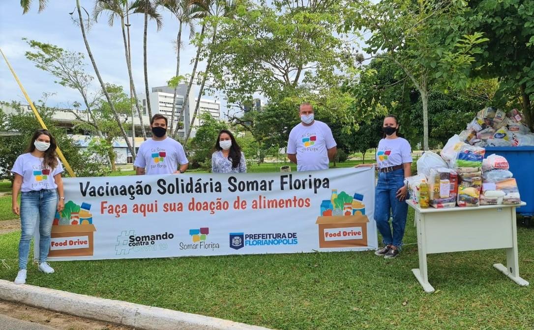 Vacina SOLIDÁRIA: Fundação Somar arrecada 16 toneladas de alimentos em 6 dias da iniciativa Vacinação Solidária