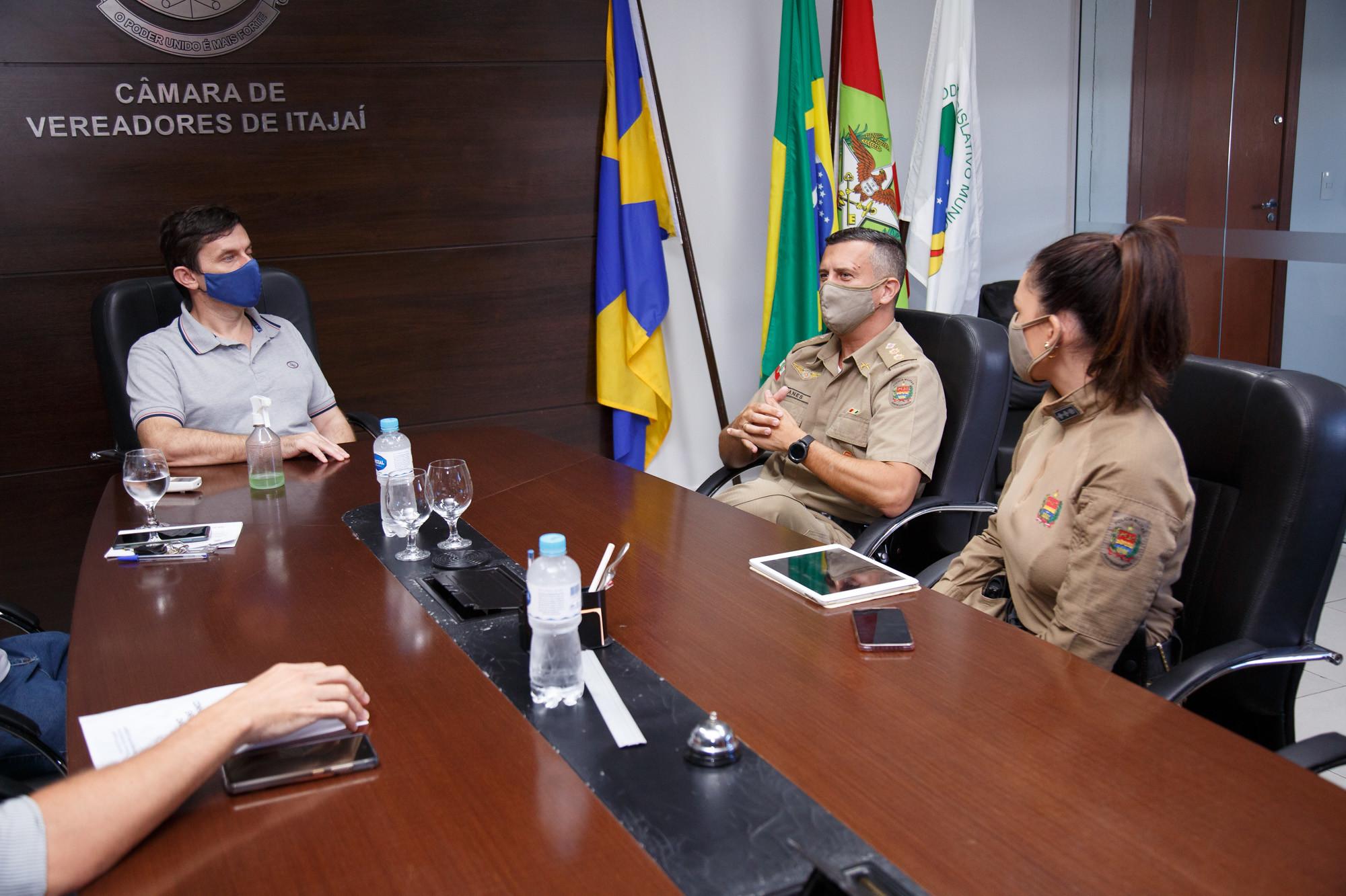 Câmara de Veradores: Presidência recebe novo comandante da PM em Itajaí