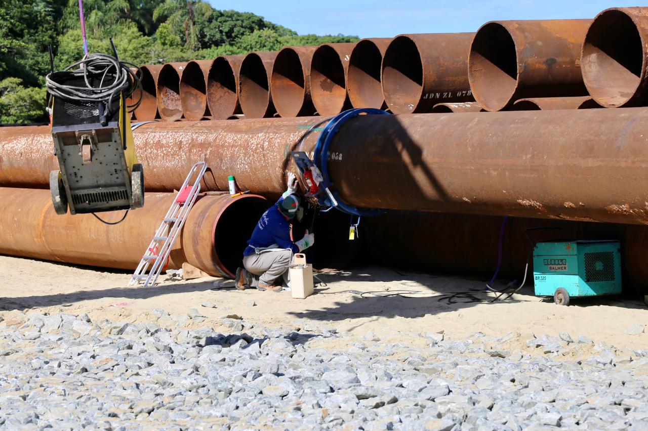 Balneário Camboriú: alargamento da faixa de areia em andamento