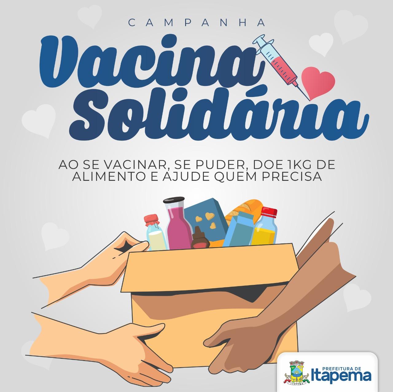 """A Fome Não Espera: Prefeita Nilza Simas lança Campanha """"Vacina Solidária"""""""