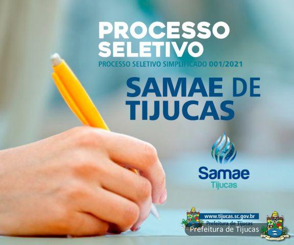Estamos Contratando: Samae abre processo seletivo para contratação temporária