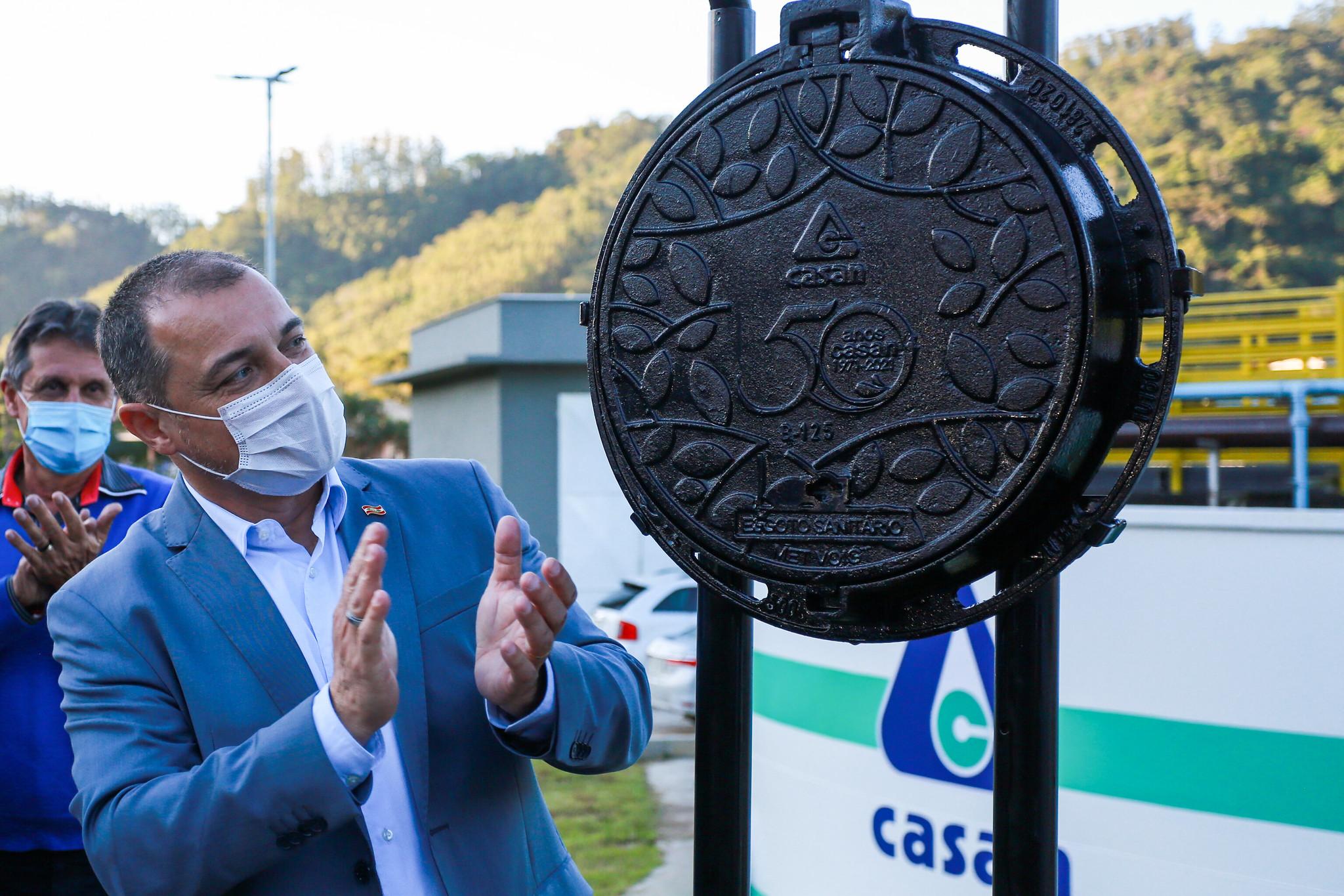 Saneamento Básico: Com investimento de R$ 16,7 milhões, governador inaugura sistema de esgotamento sanitário de Ibirama