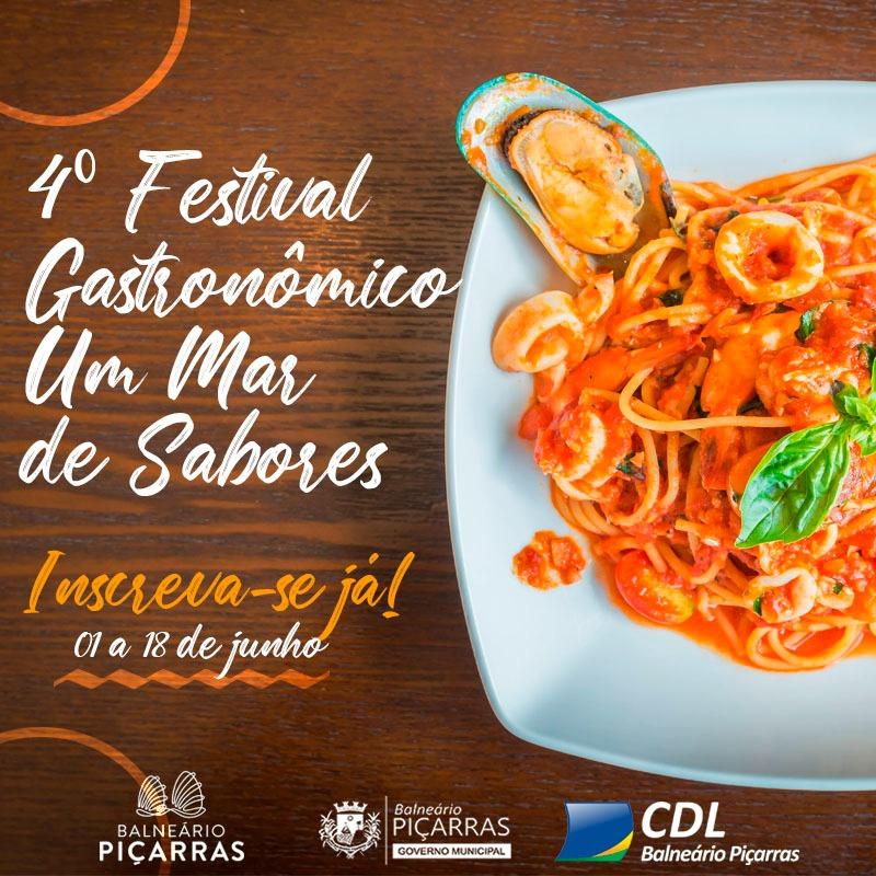 """""""Um Mar de Sabores"""": CDL de Balneário Piçarras organiza o 4º Festival Gastronômico"""