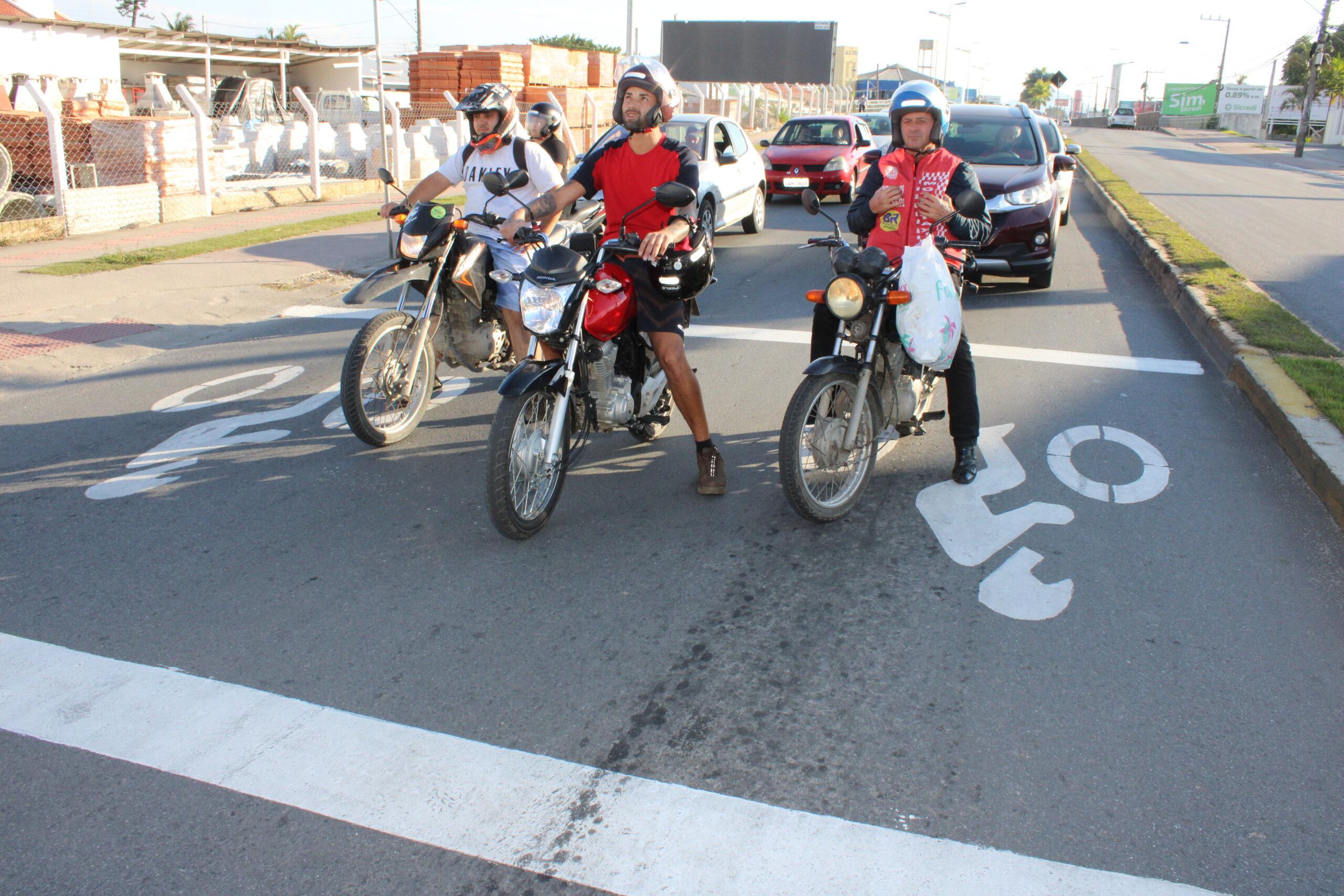 Segurança no Trânsito: Município de Itajaí amplia as áreas exclusivas para motos