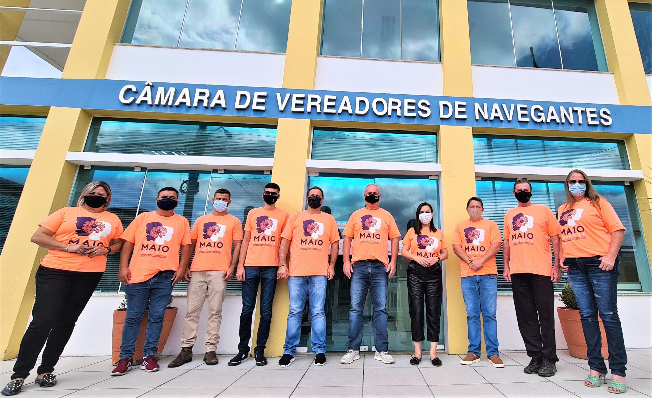"""""""Maio Laranja"""": Câmara Municipal de Navegantes adere à Campanha"""