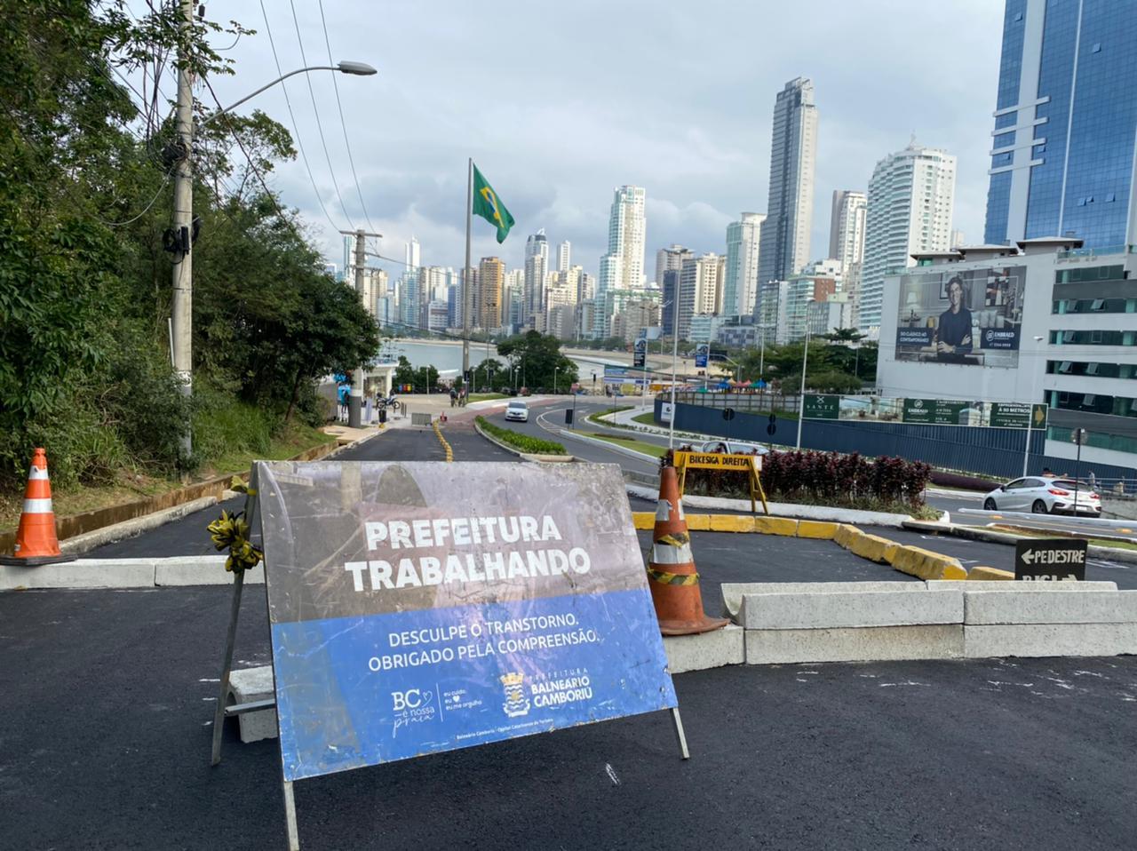 Ciclovia com Obstáculos: Estrada da Rainha em obras, projeção para turismo de contemplação em Balneário Camboriú