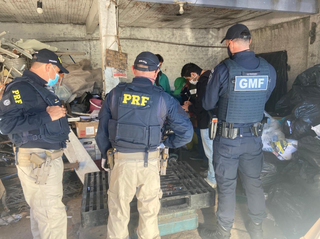 Força-Tarefa: Operação Fio Desencapado realiza nova ação para coibir crime de receptação de itens furtados