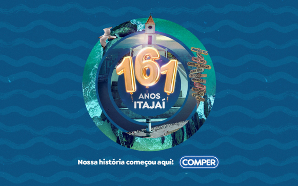 Supermercado Comper: Itajaí homenageada  no seu aniversário com ações comemorativas
