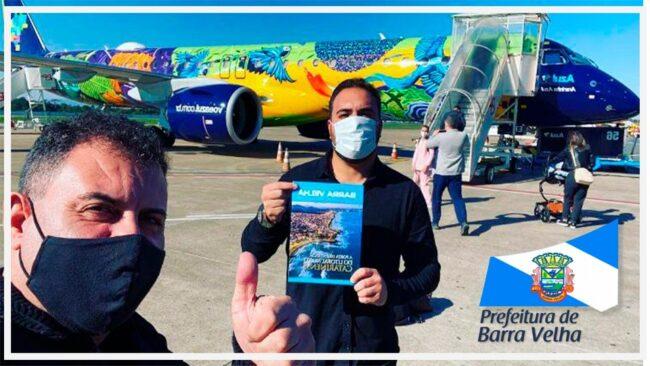 Rumo à Brasília: Prefeito Douglas Elias da Costa e o presidente da FUMTEC Pierre Costa buscam apoio ao turismo