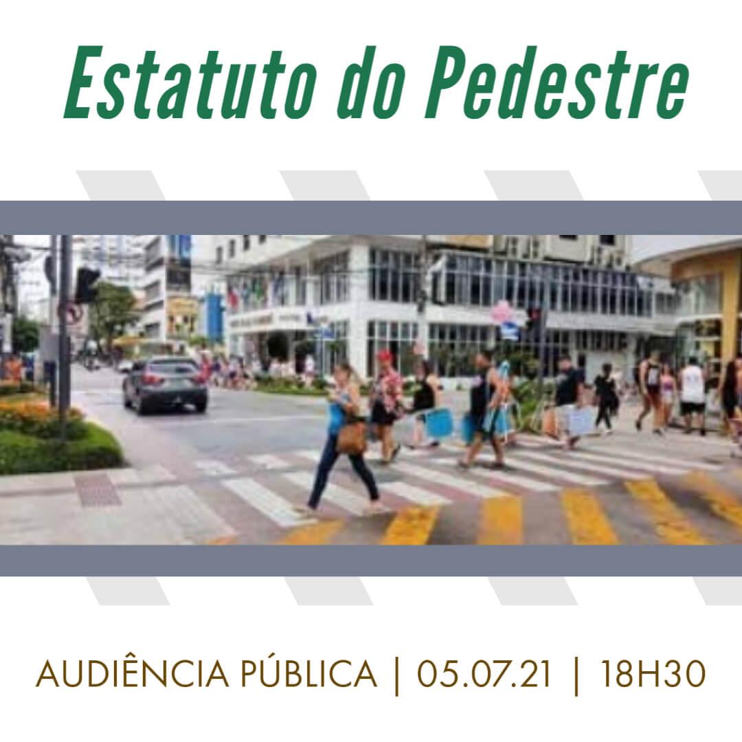 """""""Estatuto do Pedestre"""": Vereador Meirinho propõe Audiência Pública para debater  Projeto de Lei"""