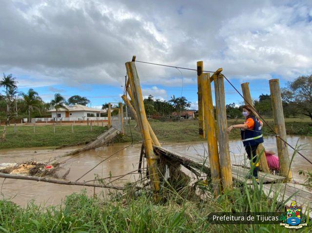 Situação de Emergência: Tijucas decreta emergência em áreas do Município afetadas pela tempestade de quarta