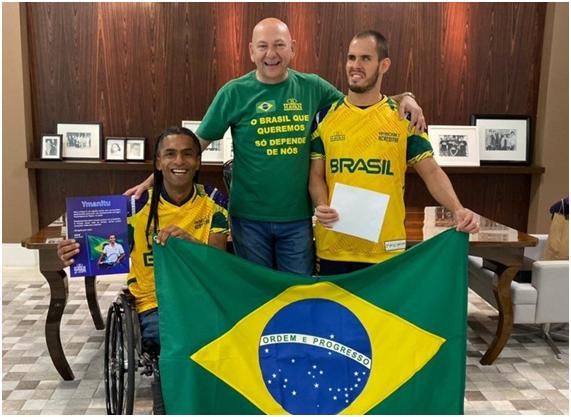 Brusque: Atletas paralímpicos confirmados para Tóquio visitam Havan