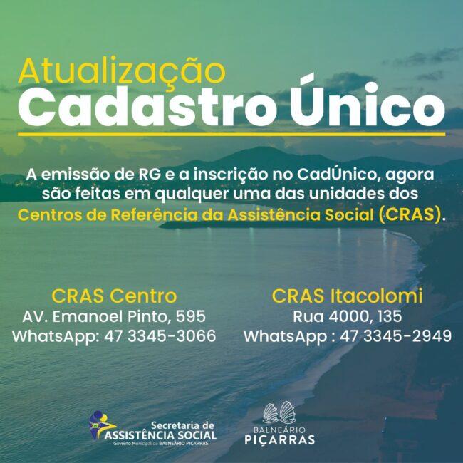 Secretaria de Assistência Social facilita inscrições do CadÚnico e emissão de carteira de identidade