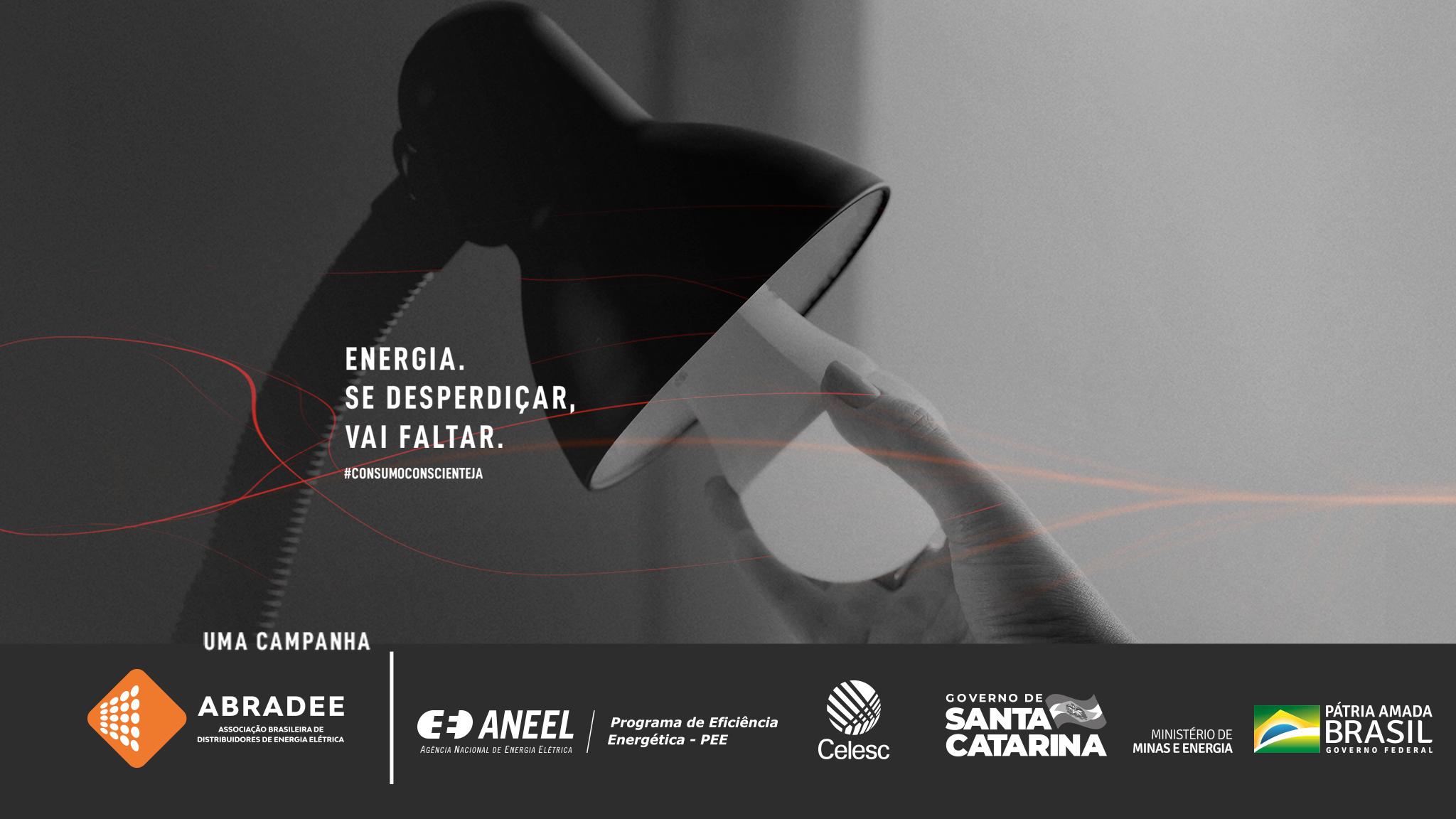 """""""Consumo Consciente Já"""": Celesc reforça dicas de economia de energia com apoio à campanha nacional"""