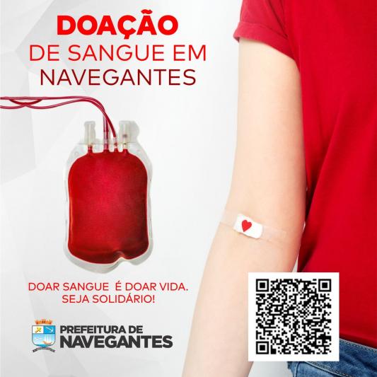 NAVEGANTES SEDIA COLETA DE SANGUE DO HEMOSC EM OUTUBRO