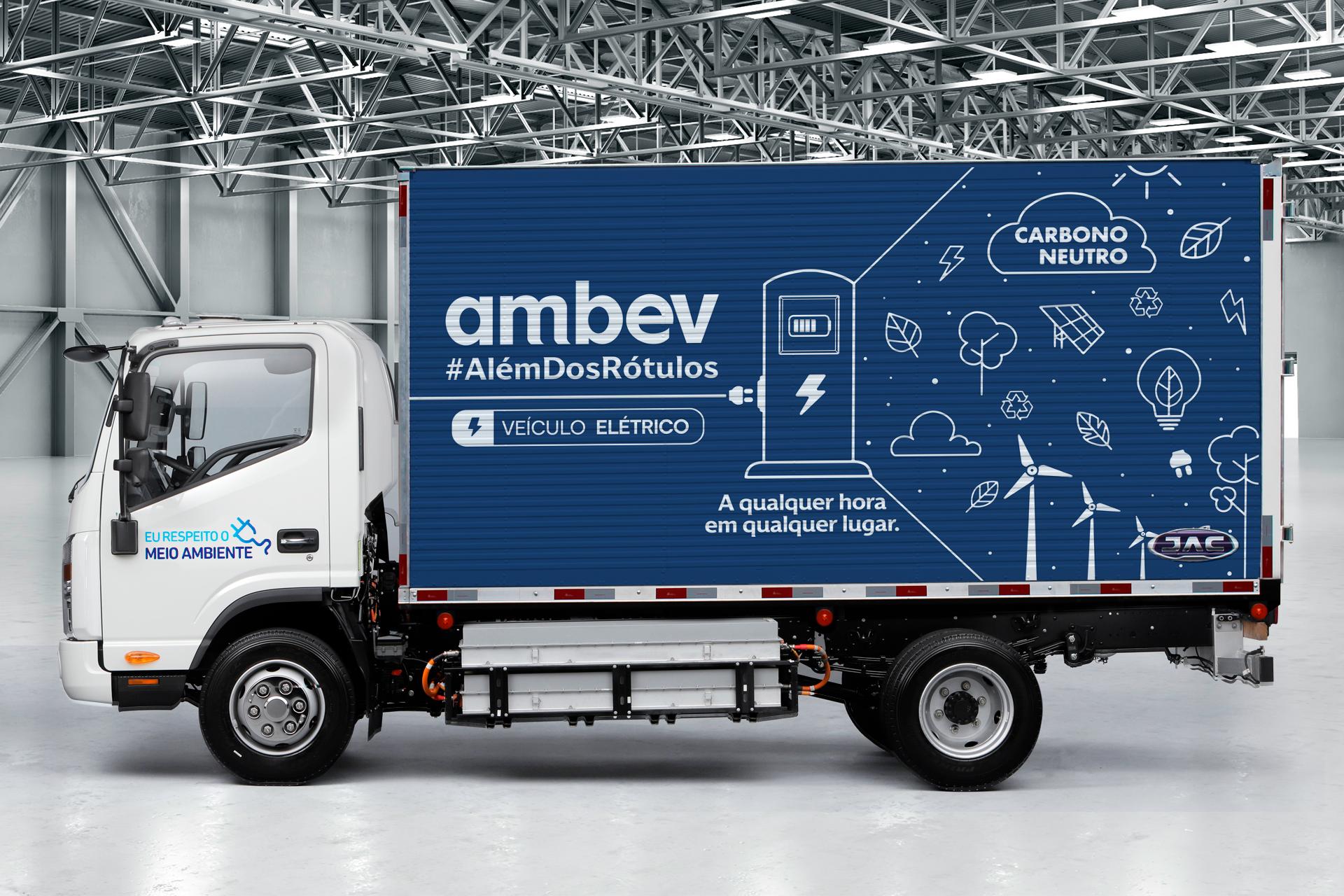 """""""Sustentabilidade"""": Ambev fecha acordo com JAC Motors e aumenta sua frota de veículos elétricos"""