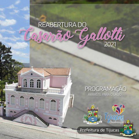 Programação de reabertura do Casarão Gallotti deve movimentar Tijucas